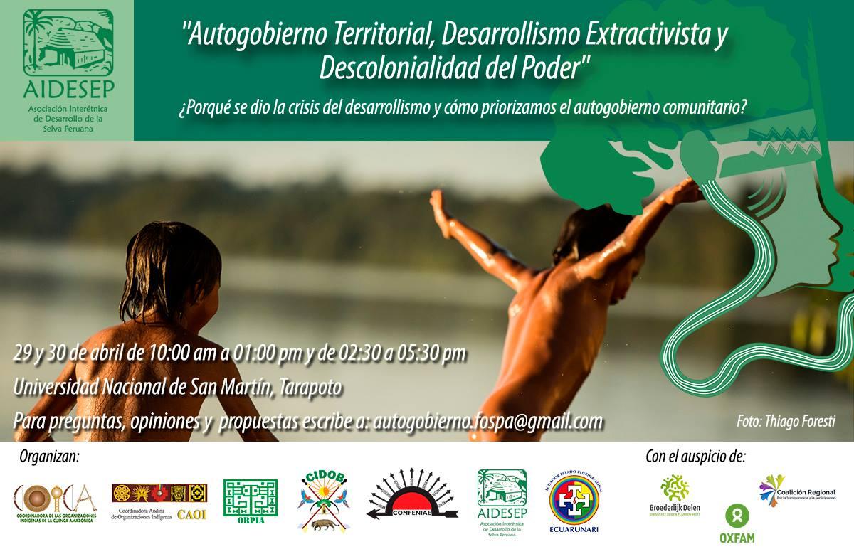 VIII FOSPA Autogobierno Territorial,  Desarrollismo Extractivista   y Descolonialidad del Poder