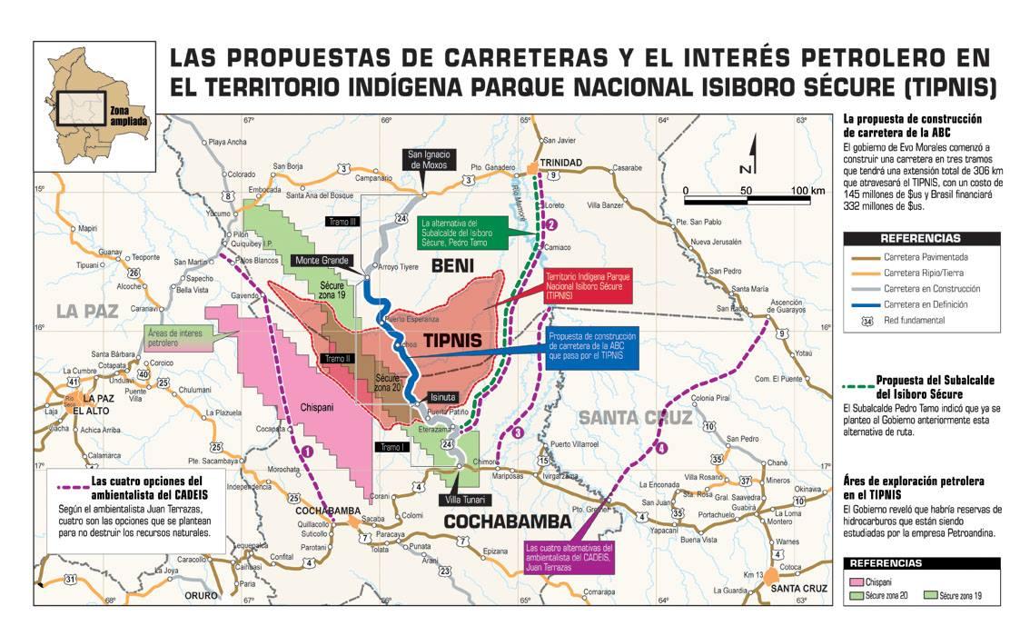 Gobierno de Bolivia pretende tumbar ley 180 que ampara TIPNIS