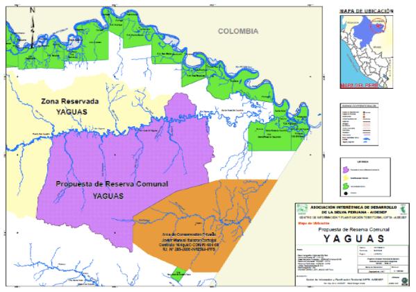SERNANP no tiene en cuenta la propuesta de PPII de Reserva comunal indígena en Yaguas, Perú
