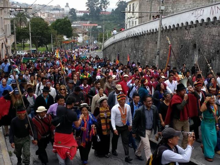 """SOLIDARIDAD INTERNACIONAL CON LA MARCHA DEL MOVIMIENTO INFIERNO DEL ECUADOR """"DIALOGO CON RESULTADOS"""""""
