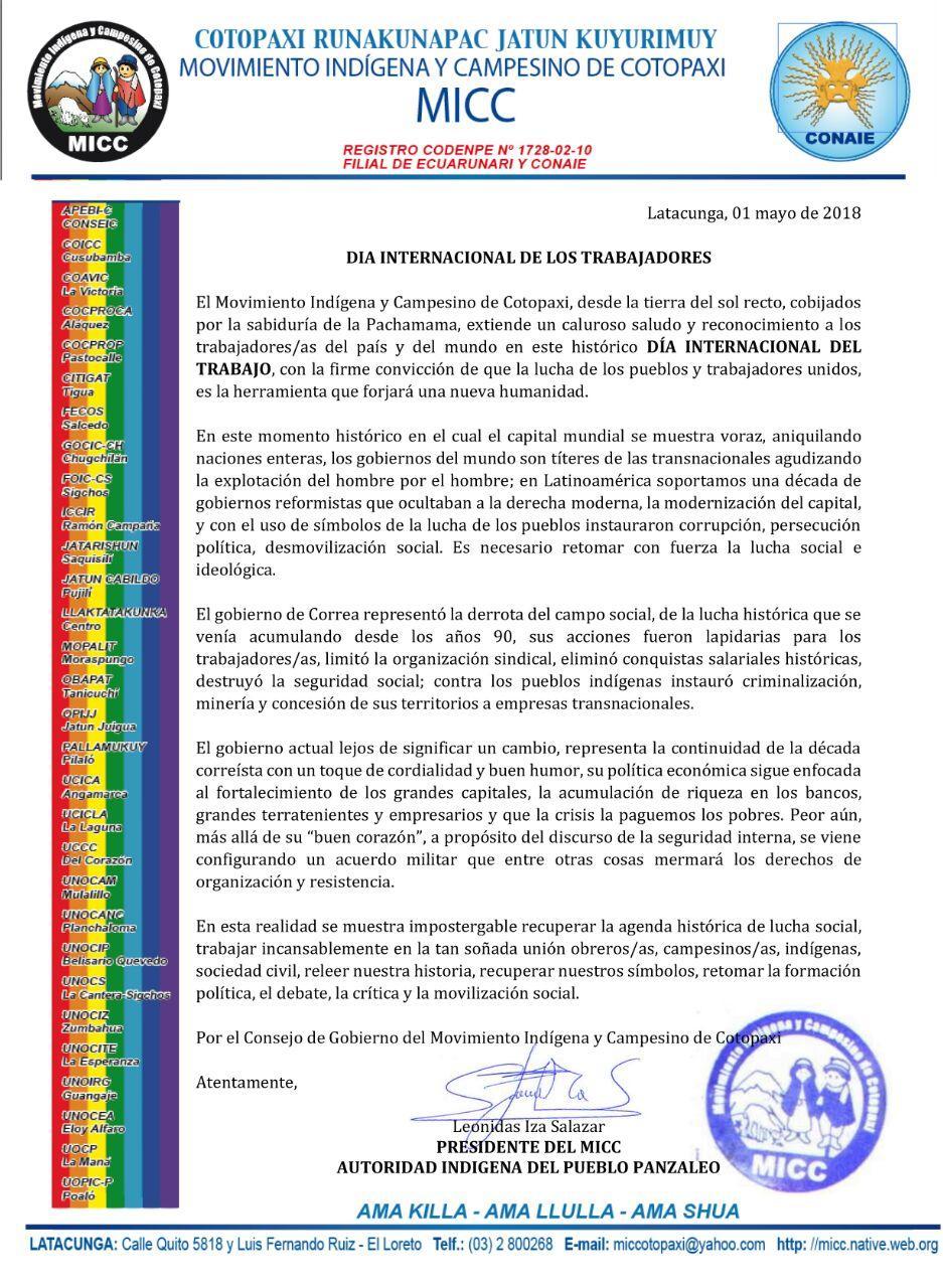 DIA INTERNACIONAL DE LOS TRABAJADORES