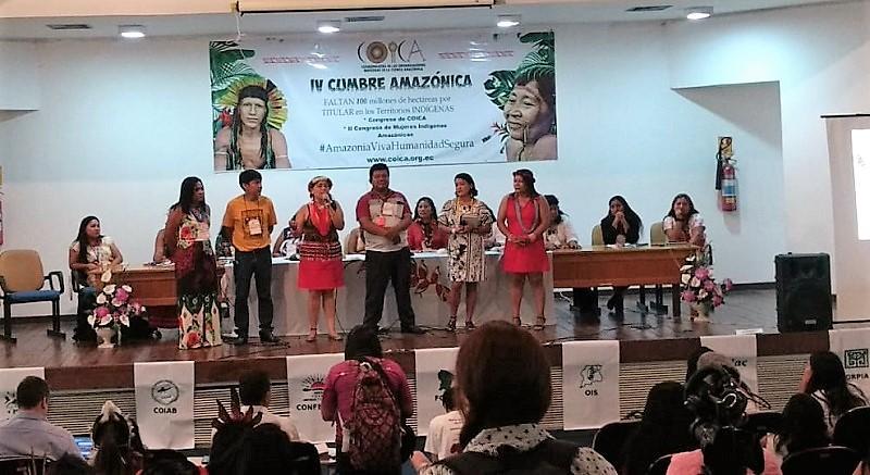 Comienza el II Congreso de Mujeres Indígenas de la Cuenca Amazónica