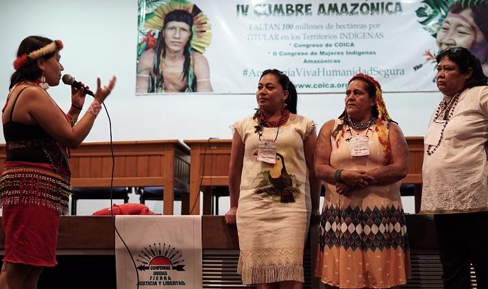 Mujeres tendrán participación paritaria en la estructura de la COICA
