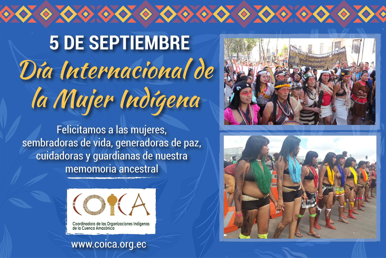 Saludo de Lucha y Resistencia a la Mujer Indígena de la Cuenca Amazónica