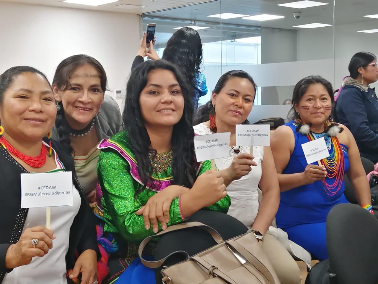 Mujeres Indígenas de Latinoamerica hacen Recomendaciones ante la CEDAW