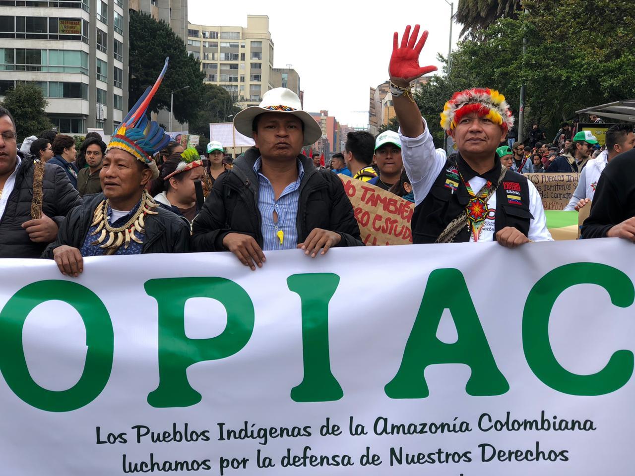 Pueblos Indígenas de la Amazonía Colombiana, Exigen al Presidente Ivan Duque, Participación en el Diálogo Nacional
