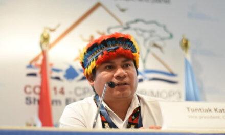 """""""Solo con la garantía de los derechos territoriales de los pueblos indígenas, vamos a poder combatir el cambio climático y futuras pandemias"""" Tuntiak Katán, Vicecoordinador de COICA"""