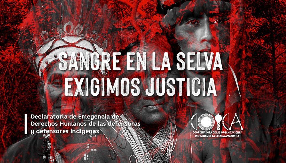 DECLARATORIA DE EMERGENCIA DE DERECHOS HUMANOS PARA DEFENSORAS Y DEFENSORES INDÍGENAS DE LA AMAZONIA
