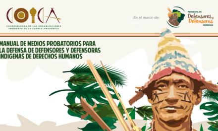 Manual de Medios Probatorios para la Defensa de los Defensores y Defensoras Indígenas de Derechos Humanos