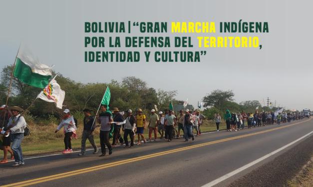 COICA EN APOYO A LA GRAN MARCHA NACIONAL DE LOS PUEBLOS INDÍGENAS DEL ORIENTE, CHACO Y AMAZoNíA DE BOLIVIA